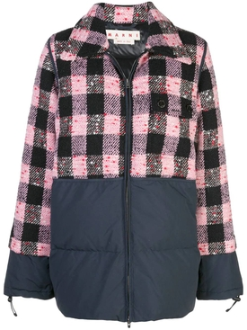 checked quilted jacket