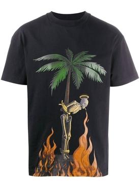 Burning skeleton t-shirt