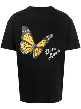 Palm Angels - Butterfly Logo Print T-shirt - Men