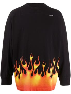 Palm Angels - Flame Logo Long-sleeved T-shirt - Men