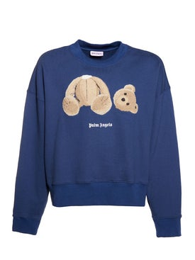 Palm Angels - Kill The Bear Crewneck Cropped Sweater - Men