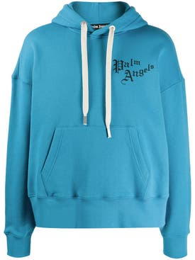 Palm Angels - Sacred Heart Hoodie Dust Blue - Men