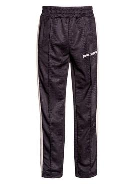 Dark Brown Croco Track Pants