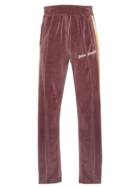 Palm Angels - Chenille Side Stripe Track Pants Brown - Men
