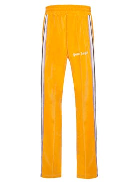 Palm Angels - Chenille Side Stripe Track Pants Orange - Men