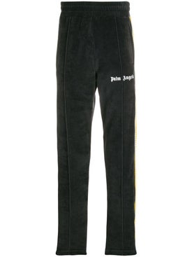 Palm Angels - Velvet Track Pants Black - Men