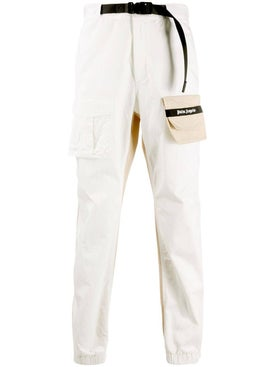 Palm Angels - Two-tone Logo Pants White - Men