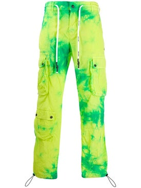 Palm Angels - Tie-dye Cargo Pants Green - Men