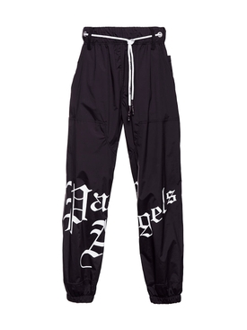 Palm Angels - Black Gothic Logo Sweatpants - Men