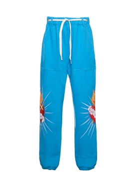 Blue sacred heart sweatpants