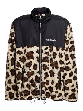 Palm Angels - Fleece Leopard Jacket - Men