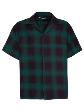 Green Plaid Print Shirt