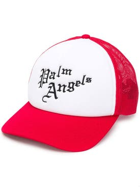 Palm Angels - Gothic Logo Mesh Cap Red - Men