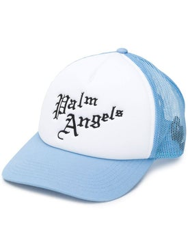 Palm Angels - Gothic Logo Mesh Cap Light Blue - Men
