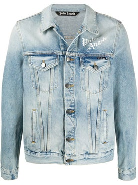 Palm Angels - Scared Heart Denim Jacket - Men