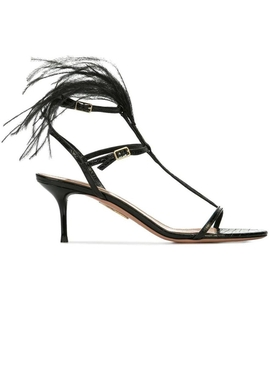 Aquazzura - Ponza Feather Sandals - Women