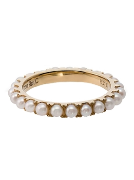 Rosa De La Cruz - 18kt Gold And Pearl Eternity Ring - Women