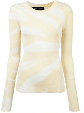 Proenza Schouler - Tie Dye Rib Knit Top - Long Sleeved