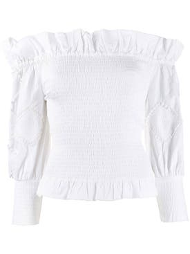 Chufy - Off-shoulder Frill Trim Top - Women