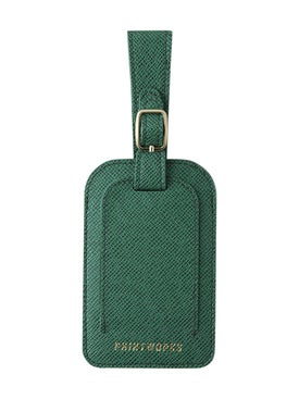 Printworks - Green Faux Leather Luggage Tag - Women