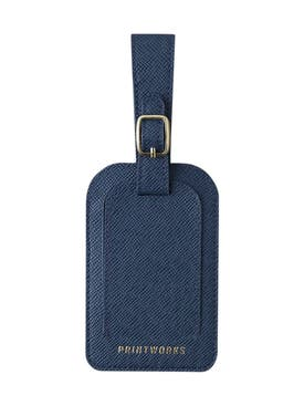 Printworks - Blue Faux Leather Luggage Tag - Women