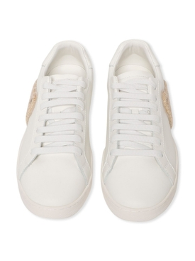 NEW TEDDY BEAR LOW-TOP TENNIS SNEAKER, WHITE BROW