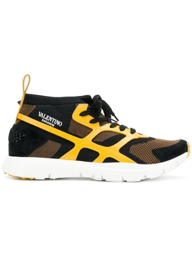Valentino Garavani - Valentino Garavani Panelled Sneakers Yellow - Men