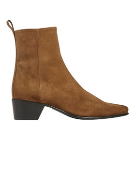 Pierre Hardy - Reno Ankle Boot Tobacco Brown Suede - Women