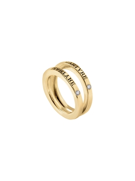 14k gold & diamond split ring
