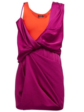 HYBRID DRAPED DRESS PURPLE