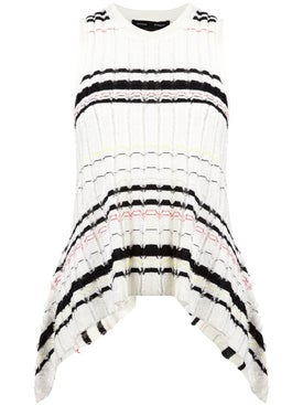 Proenza Schouler - Striped Rib Knit Top White - Women