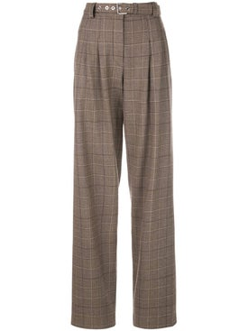 Proenza Schouler - Exaggerated Plaid Suiting Pants - Women