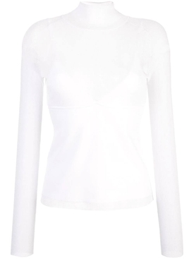 Matte Turtleneck Top WHITE