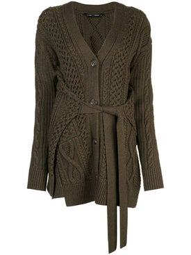 Proenza Schouler - Cable Knit Robe Cardigan Green - Women
