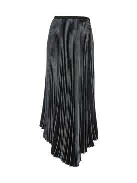 Proenza Schouler - Asymmetrical Pleated Skirt Black - Women