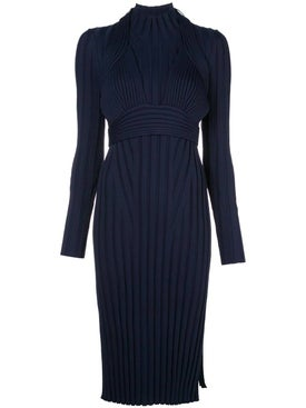 Proenza Schouler - Navy Ribbed Knit Midi Dress - Women