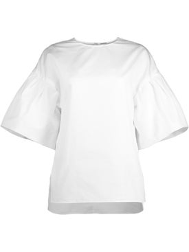 Adam Lippes - Flutter Sleeve Top In Cotton Poplin - Women