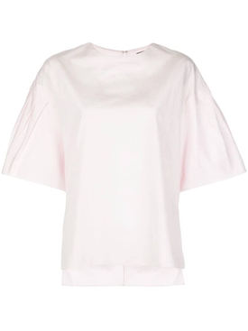 Adam Lippes - Blush Flutter Sleeve Top - Women