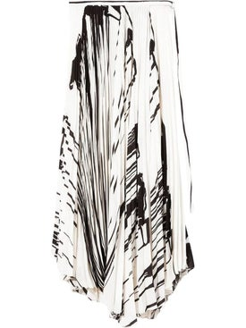 Proenza Schouler - White And Black Pleated Skirt - Women