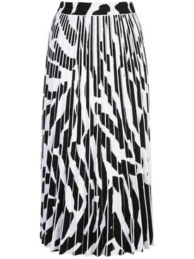 Black and white zebra print skirt