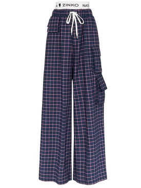 Natasha Zinko - Navy Check Print Pants - Women