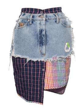 Recycle Denim Mini Skirt