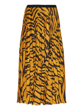 Tiger stripe midi skirt