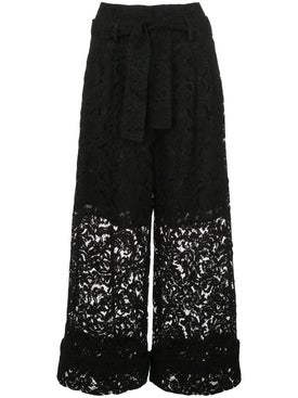 Adam Lippes - Cropped Lace Pants Black - Women