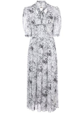 Adam Lippes - Black And White Floral Print Dress - Women