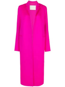 Adam Lippes - Pink Long Wool Coat - Women