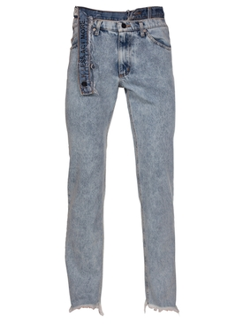 Talk Less Act More Double Waistband Jeans