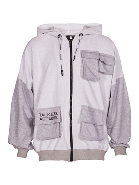 Talk Less Act More Cotton Jogging Jacket