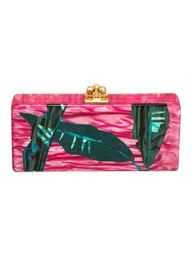 Edie Parker - Pink Palm Print Clutch - Women