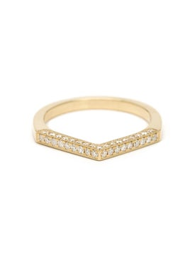 Azlee - 18k Yellow Gold Celestial Diamond Ring - Women